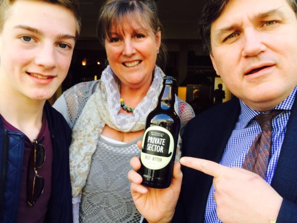 """A bottle of """"Private Sector"""" from Betteridge's Brewery Hurstbourne Tarrant"""