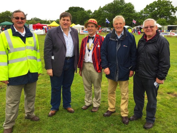 Pres Martin Slatford and the Loddon Valley Lions at the Treacle Fair