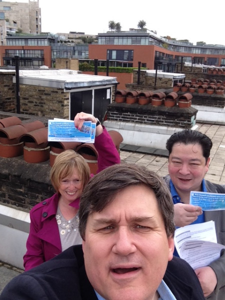 On the roof in Churchill Ward