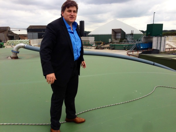 Standing on a huge methane balloon at Apsley