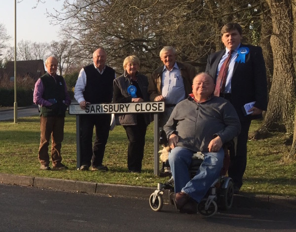 Tadley with Cllr Leeks and Jonathan Richards