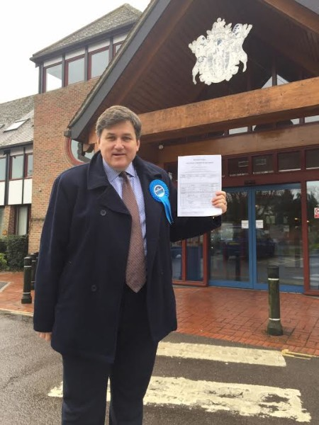 Handing in Nomination Papers, Andover